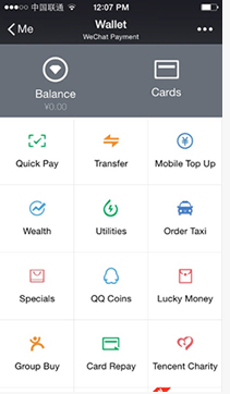 WeChat & Alipay wallet– Spring Airlines